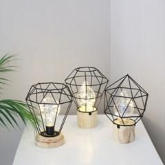 LED 철제 라인 우드등 - 콘