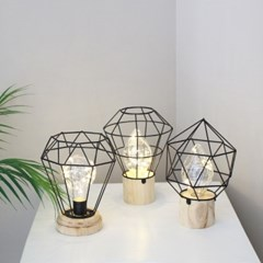 LED 철제 라인 우드등 - 볼