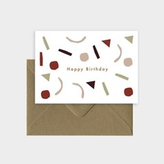 미슈카스 디자인 생일 카드 - [Michoucas Design] Confetti Birthday