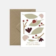 미슈카스 디자인 생일카드 - [Michoucas Design] Slow Birthday card
