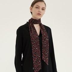 leopard tie scarf