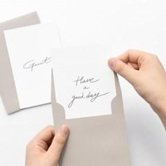 타이포 엽서 봉투 세트