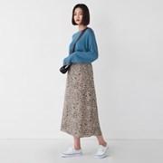 a line leopard skirt