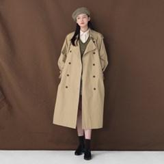 classy double trench coat