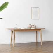 [오크] A형 커브식탁/테이블_(1027665)