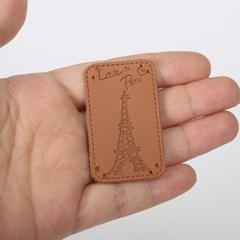 에펠탑 가죽라벨(5개) [1373]
