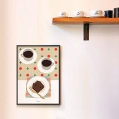 유니크 인테리어 디자인 포스터 M 코코아와 초코 파운드케익