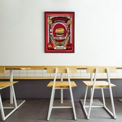 유니크 인테리어 디자인 포스터 M 햄버거 더 프로파간다