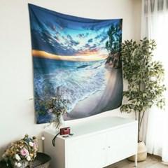 태피스트리 벽장식 패브릭 포스터 - 비치 4 (150x130cm)