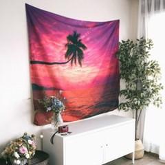 태피스트리 벽장식 패브릭 포스터 - 비치 2 (150x130cm)