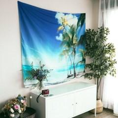 태피스트리 벽장식 패브릭 포스터 - 비치 1 (150x130cm)