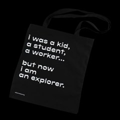 COTTON BAG - EXPLORER (BLACK)