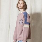 KN029_LOVE Line Sweater_INDI PINK