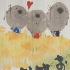 일본풍 커튼 노렌 -오늘도 건강하게 웃는하루를(cos048)