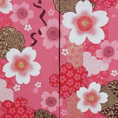일본풍 커튼 노렌 면100%-핑크사쿠라(cos108)