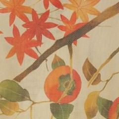 일본풍 커튼 2중천으로된 노렌-가을풍경/토끼(cos049)