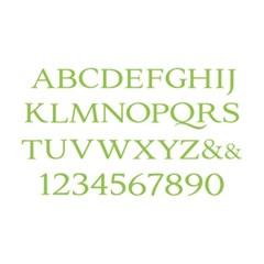 레터프레스 플레이트-Serif