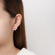3진주 6꽃잎 귀걸이