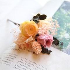 납골당(추모)꽃-옐로 & 핑크장미 프리저브드