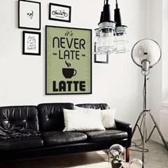거실 주방 커피 인테리어 액자_네버라떼B