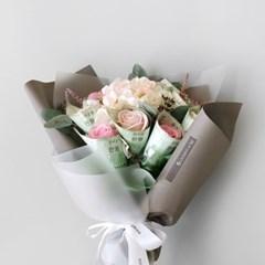 수국&장미 용돈 꽃다발