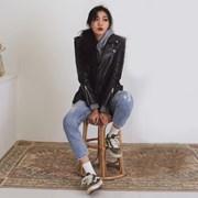 [콜릿] 고급 양가죽 라이더자켓