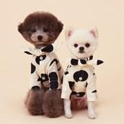 Cow shirt / ivory + black dot