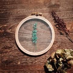 프랑스자수 투명자수액자 DIY 키트 - 유칼립투스 eucalyptus