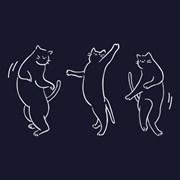 댄싱캣 크루넥맨투맨 - 네이비