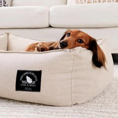 BEIGE LAZY BUMPER BED