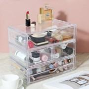 파우더룸 화장품 수납정리 투명 아크릴 서랍 시리즈_(884630)