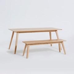 타벤 1485 테이블_화이트오크(벤치/의자선택)