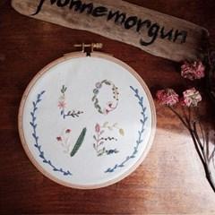 프랑스자수 액자 DIY 키트 - 리스러브 Wreath love