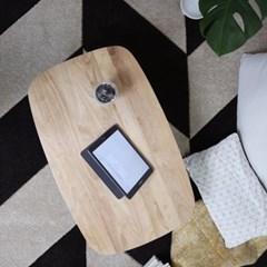 [스크래치] 원목 라운디시 접이식 테이블 900