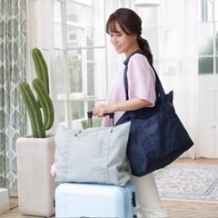 여행폴딩백 U902 그레이 데일리 토트백 숄더백 여행보조가방