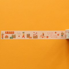 Masking tape 25mm - 08 Fruits store
