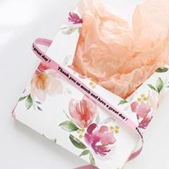 핑크 땡큐 코튼리본(9mm)