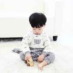 [메르베] 빼꼼두더지 신생아 우주복/북유럽아기옷_겨울_(1127744)