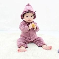 [메르베] 뽀송하트 신생아 우주복/북유럽아기옷_겨울용_(1127743)