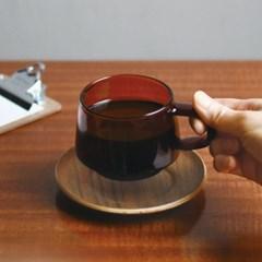 [킨토] 세피아 컵&소서 270ml (황색)