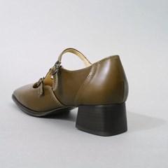 흰_Strap Shoes_Olive Green