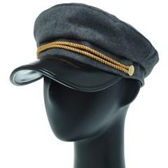 [플릭앤플록]EJC06.골드 울혼방 여성 군모 마린 모자