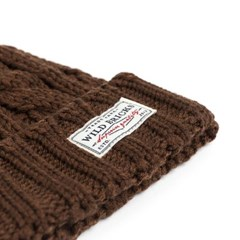 AP CABLE WATCH CAP (brown)
