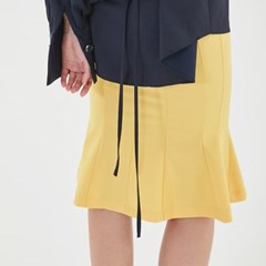 Wave Mermaid Skirt in Yellow