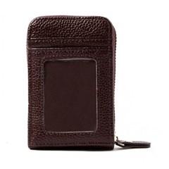 브라운 지퍼형 카드 지갑 1개
