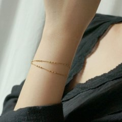 Layered 3 ball fall chain bracelet
