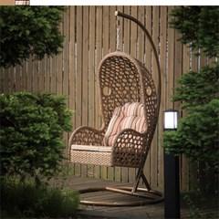 라탄 그네 의자 1인 680