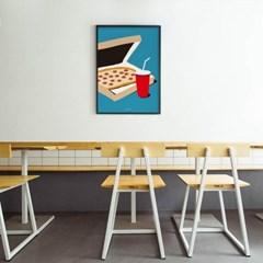 유니크 인테리어 디자인 포스터 M 소울메이트 피자 PIZZA