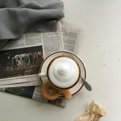 모던뉴욕 브라운커피잔& 소서
