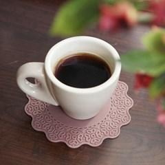 파스텔 실리콘 플라워 컵받침4set_(1676655)